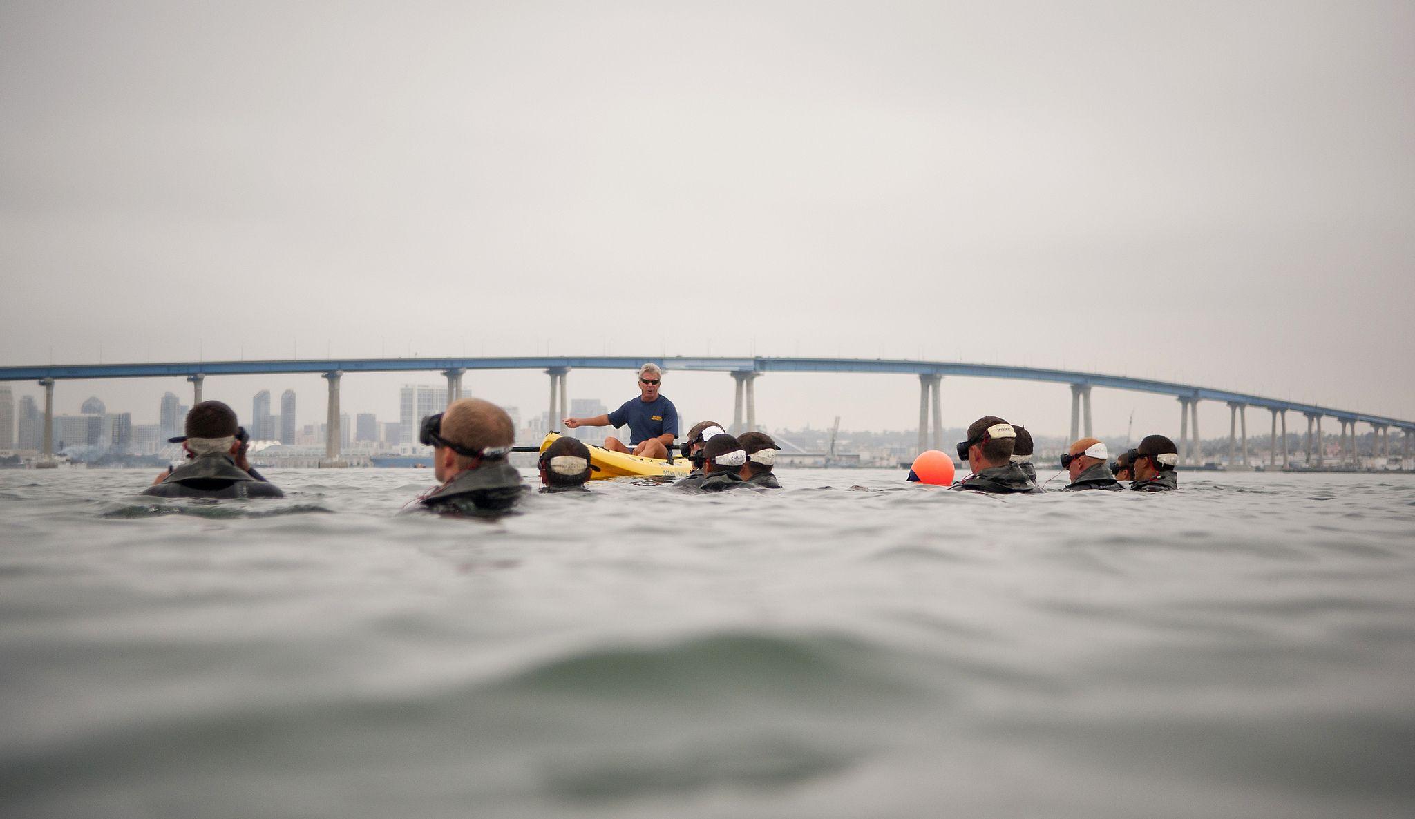 Buds student participates in interval swim training in san