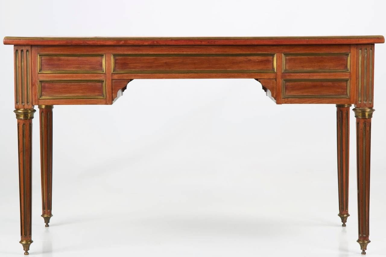 French Louis XVI Faded Mahogany Leather Top Antique Writing Desk, 19th  Century | From a - French Louis XVI Faded Mahogany Leather Top Antique Writing Desk