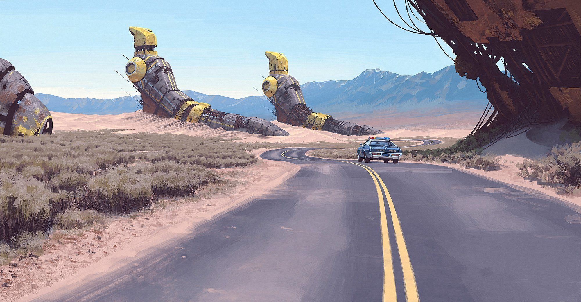 Simon Stalenhag S Incredible New Paintings Show An Alien