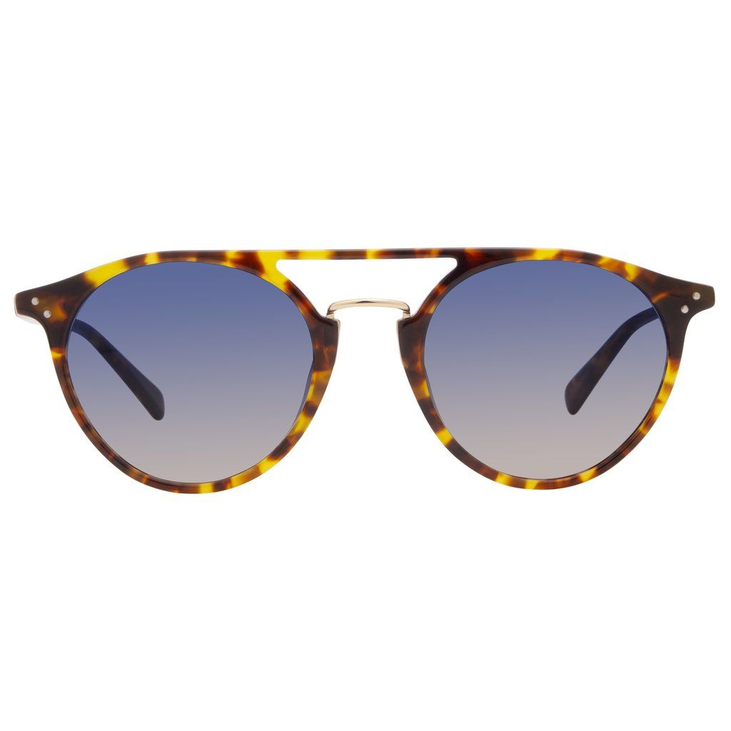4df0fb1d3f Mason Amber Tortoise Frame Sunglasses by DIFF Eyewear featuring handmade  amber tortoise acetate and blue gradient polarized lenses.
