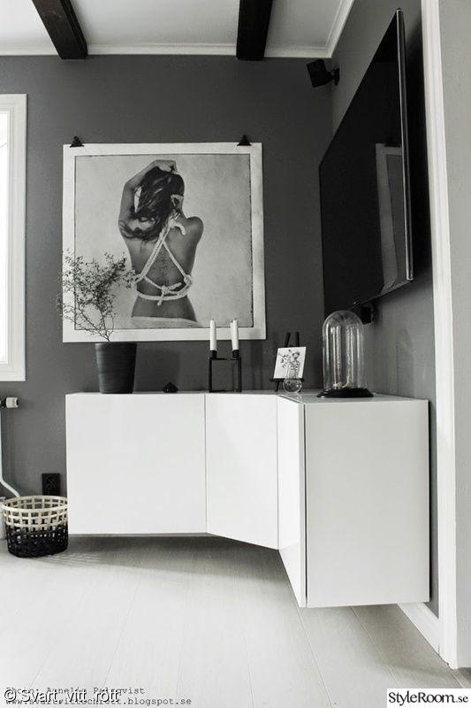 sk nk tv m bel diy sk nk av k kssk p vitt small apartment pinterest k kssk p tv och. Black Bedroom Furniture Sets. Home Design Ideas