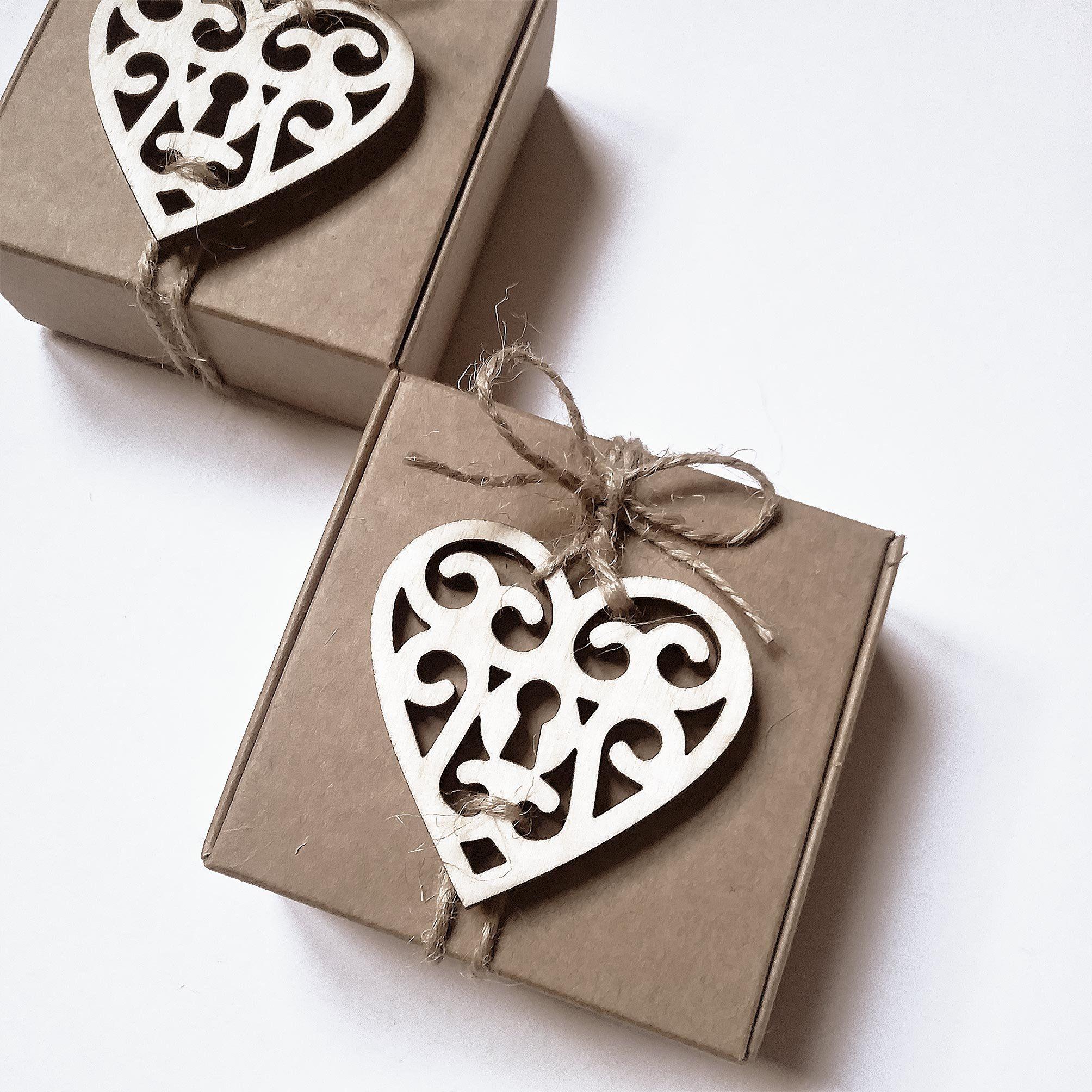Tag Matrimonio A Forma Di Cuore Da Inserire Sulle Bomboniere Set Di 25 Tag Legno Specchio Oro Argento Plexigl Heart Shaped Tags Wedding Favor Tags Heart Favors