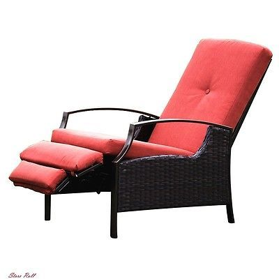 Lawn Chairs Reclining Patio Furniture Accessories Lounge Indoor Outdoor  Cushion