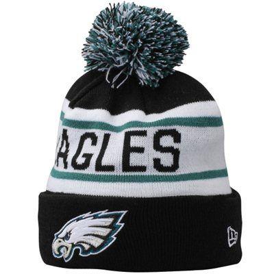 Mens Philadelphia Eagles New Era Black Biggest Fan Redux Knit Beanie ... 5100daae3d93