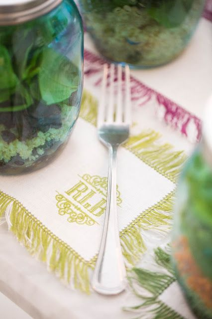 Halo Home Monogrammed Table Linens Kimberly Schlegel