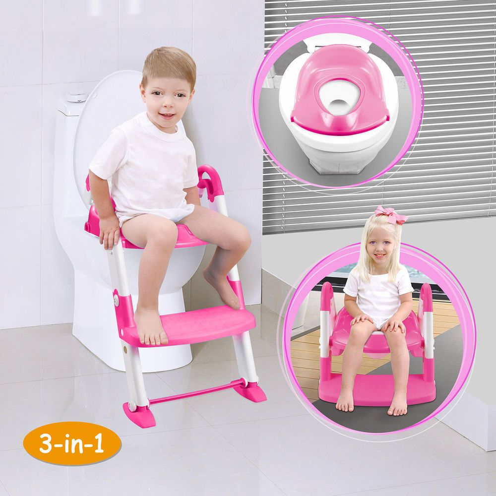 Kids Potty Training Seat With Step Stool Ladder For Child Toddler Toilet Chair Imountek Kids Potty Potty Training Kids Toddler Toilet