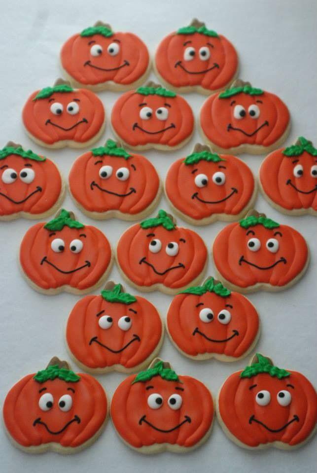 Goofy pumpkins Halloween Spooky Cookies Pinterest Pumpkin - halloween pumpkin cookies decorating
