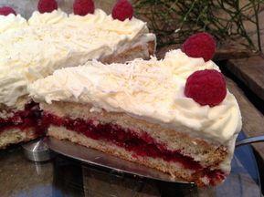 Himbeertorte mit weißer Schokolade – Backen, Torten, Kuchen, Gebäck