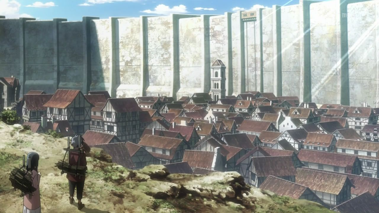 Pin By Mark On Walled City Anime Background Attack On Titan Background