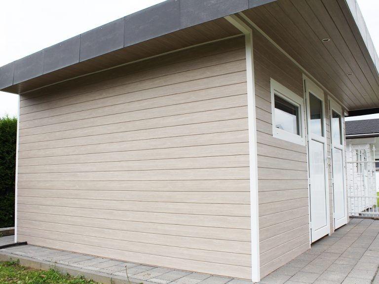 Anwendungsbeispiel Zu Dekodeck Verkleidungsprofilen Fur Fassade Dachuberstand Zaunelemente Und Viele Mehr Erhaltlich Auf W Fassade Hausfassade Fassade Haus