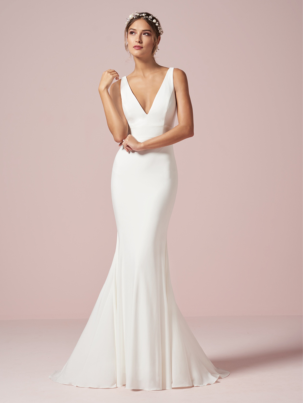 Christina Wu 22960 V Neck Destination Wedding Dress Destination Wedding Dress Wedding Dresses Lace Plain Wedding Dress [ 1331 x 1000 Pixel ]