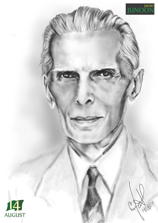 Great Leader Of The 20th Century Founder Of Pakistan Mohammad Ali Jinnah Reshaped The Sub Continent In Favour Of Muslims Sketches Photoshop Great Leaders