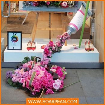 Window Display New Products Fiberglass Toothpaste Flower