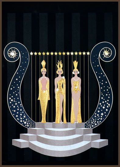 Helen of Troy  by Erte  Giclee Canvas Print Repro