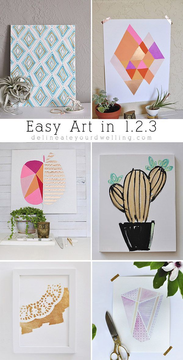 See Step By Instructions On How To Create These Six Different Pieces Of Art Work Delineateyourdwelling