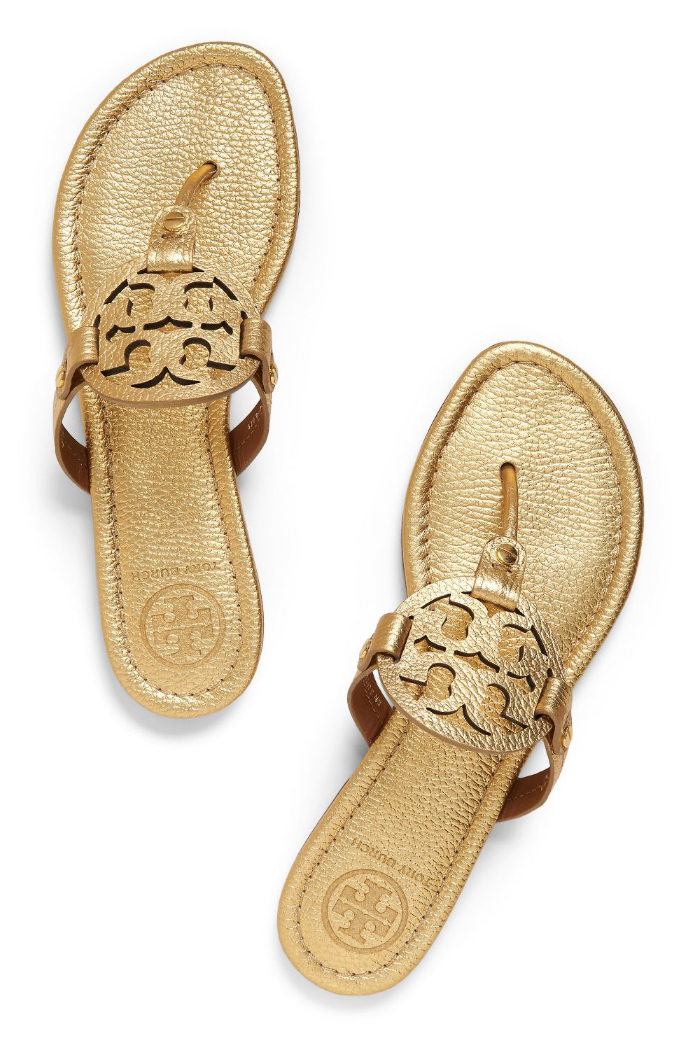 7b29389769fc Tory Burch Miller Sandal. Tory Burch Miller Sandal Metallic Gold Shoes