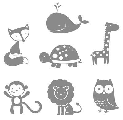 Animaux silhouette Cameo Pinterest