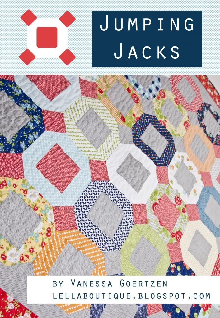 Jumping Jacks Quilt #jellyrollquilts