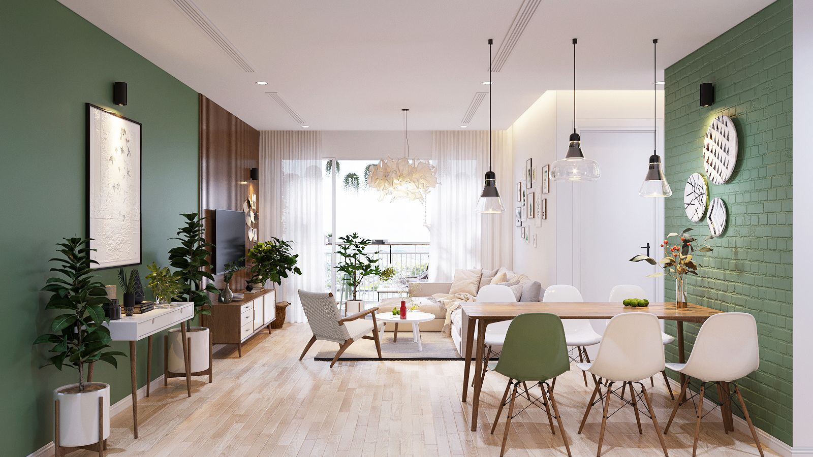 Modern Scandinavian Style Home Design For Young Families: 2 Examples ...