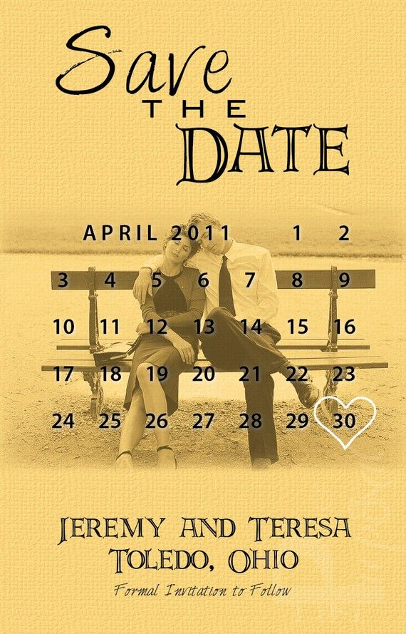 MARK Your CALENDAR Save the Dates DEPOSIT