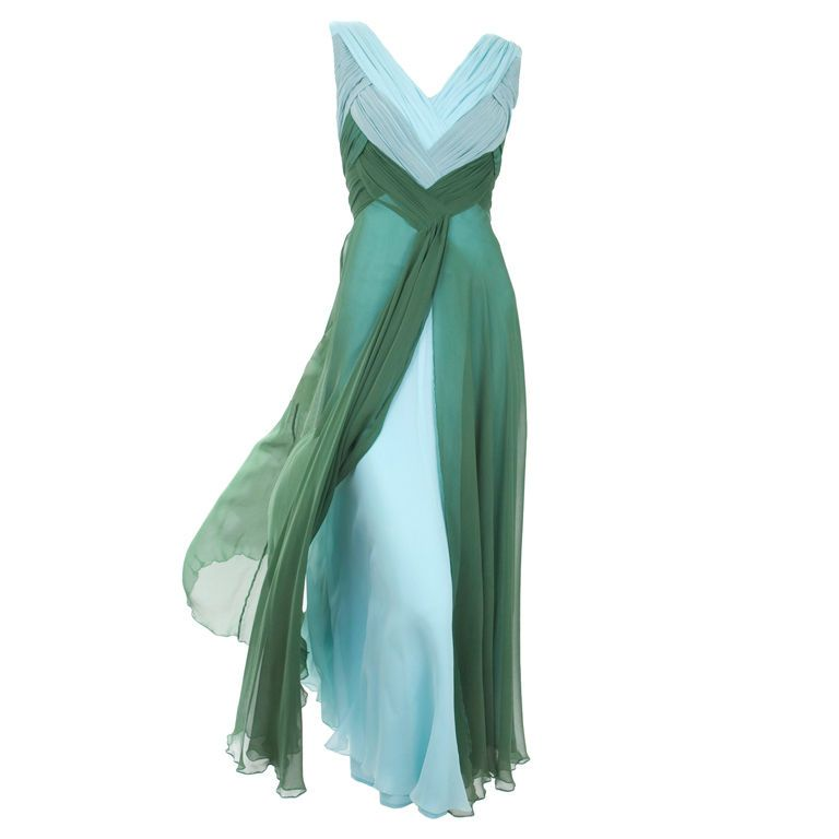 Valentino Boutique Silk Chiffon Gown