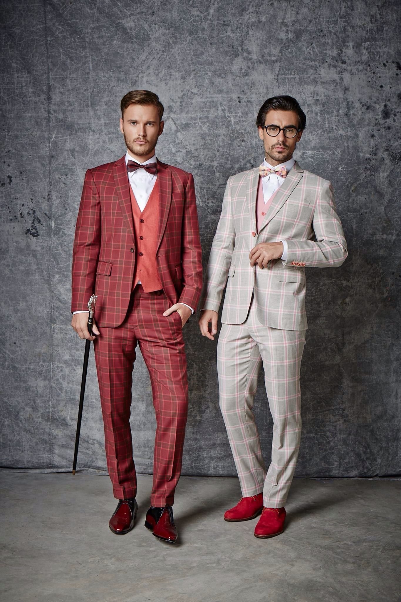 ITailor Red Check Suit | Awesome | Mens fashion:__cat__