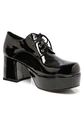 28bc6b54b9c4 Mens Black Pimp Shoes