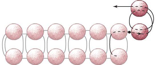 Square stitch increase figure 1