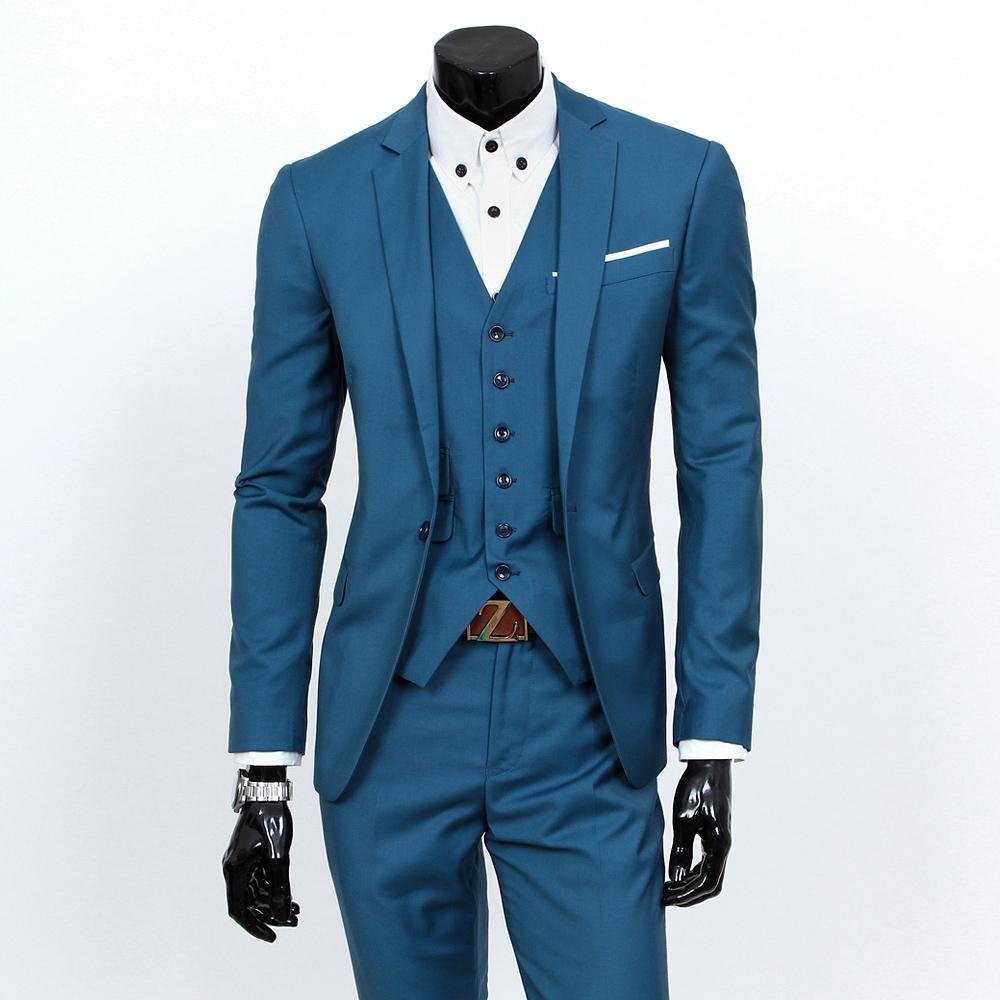 Men\'s Slim-fit Formal 3-piece Suit, Consisting of Jacket, Vest and ...