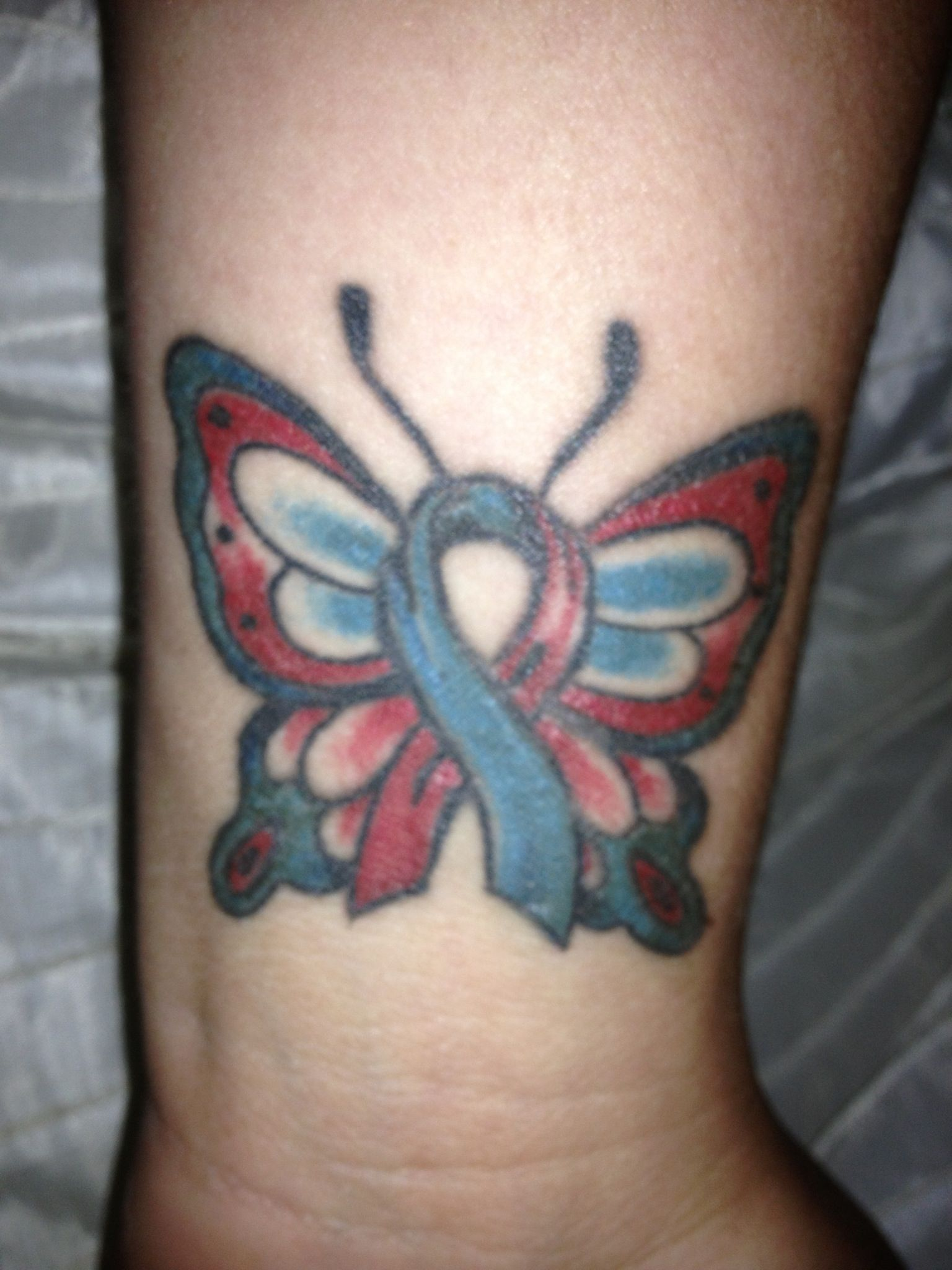 My pulmonary fibrosis ribbon tattoo in memory of my dad tattoo my pulmonary fibrosis ribbon tattoo in memory of my dad biocorpaavc Image collections