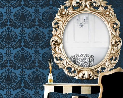 Damask Wall Stencil for Painting a Romantic Bedroom Wall Mural   Etsy