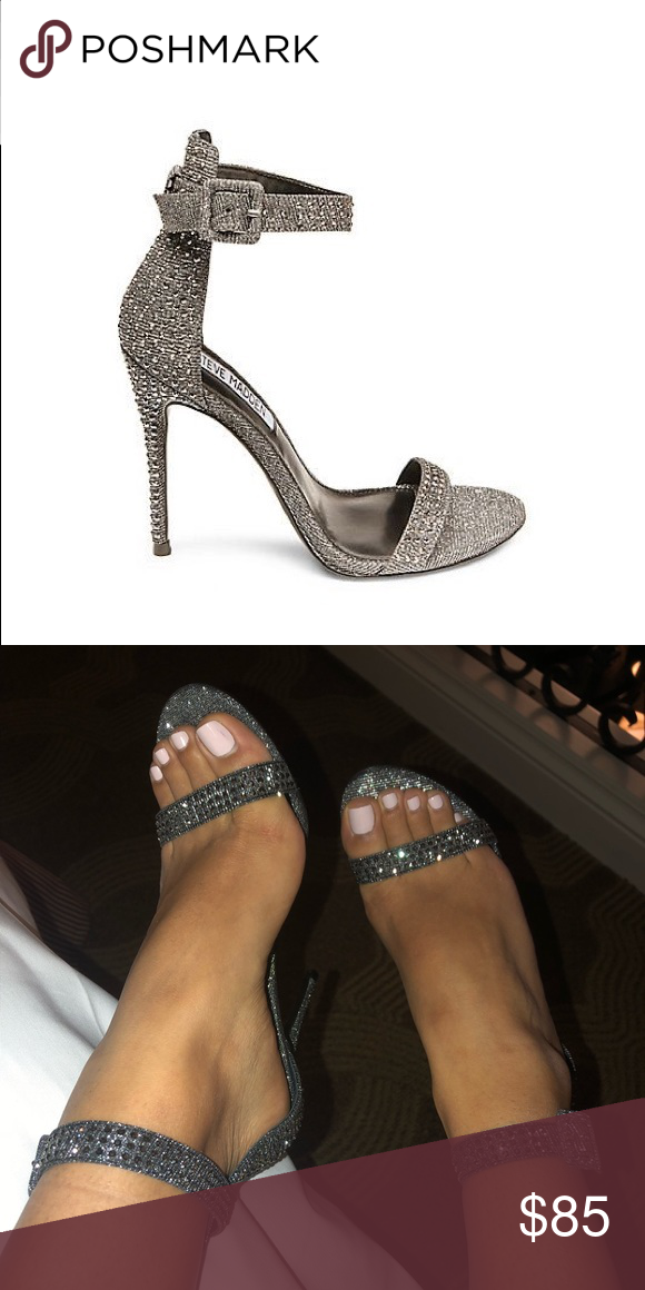 fa032ae1962 Steve Madden Mischa Heel Gorgeous glitter heels by Steve Madden! Sleek heel  with bedazzled surfaces