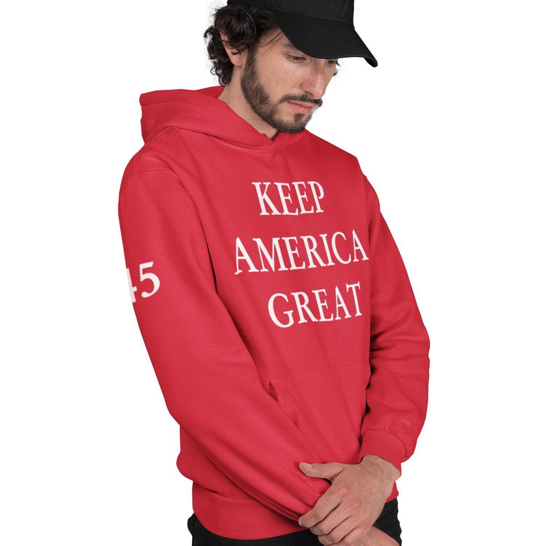 Trump 2020 Keep America Great Hoodie Red