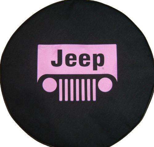 Sparecover Brawny Series Jeep Classic 30 Pink Logo Tire Cover