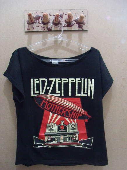 d3969334df Camiseta Gola Canoa Led Zeppelin Cor  Preta Tamanho  único R  45