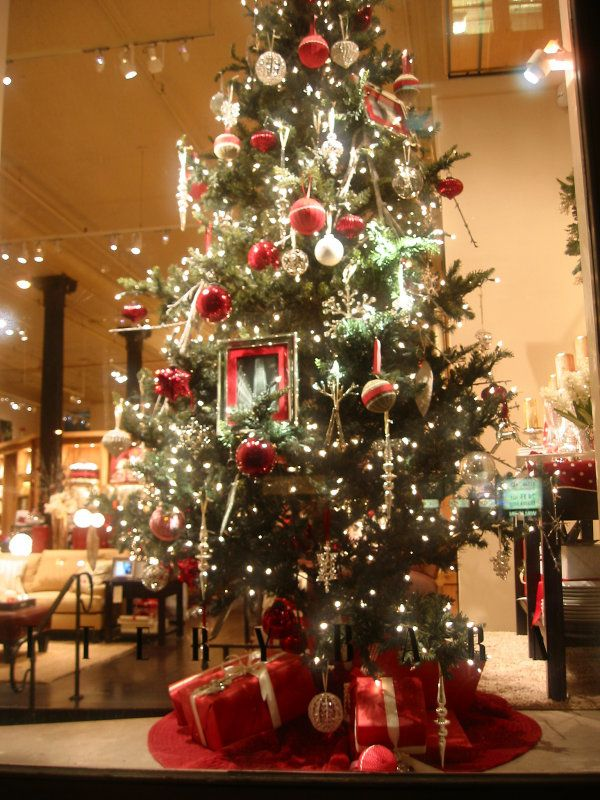 reflections winter holidays pottery barn christmas tree window