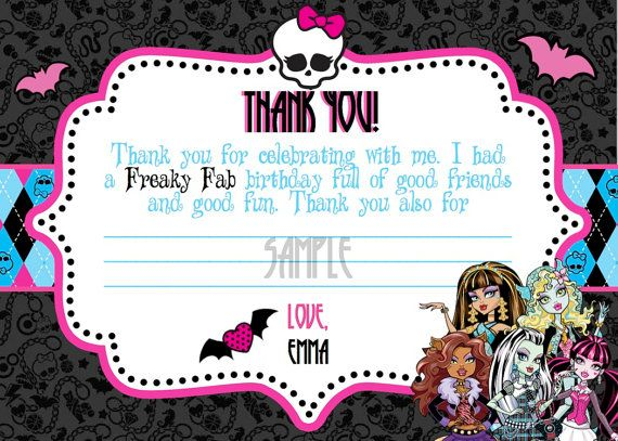 Printable Monster Note Cards  Crafthubs  Party Ideas  Pinterest