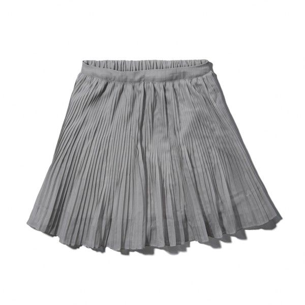 Abercrombie & Fitch Chloe Skater Skirt (€9,11) ❤ liked on Polyvore featuring skirts, cream, abercrombie fitch skirt, pleated skater skirt, flared skirt, cream skirt and circle skirt