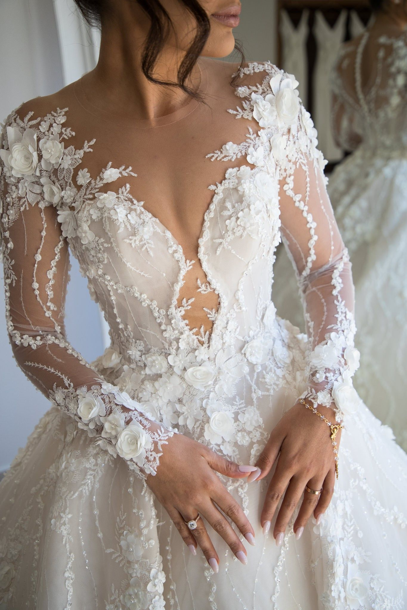 Steven Khalil Custom Made Wedding Dress - #Custom #dress #Khalil #MADE #Steven #wedding