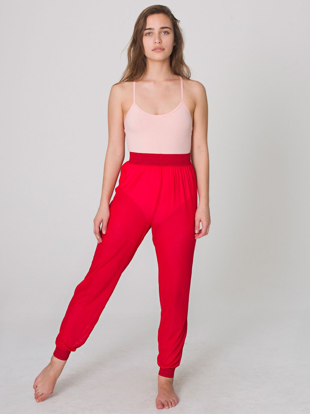 Nylon Spandex Micro-Mesh Jumper Pant | Harem | Women's Pants | American Apparel