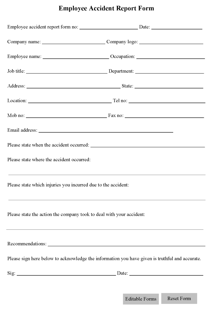 Free Printable Liability Form Template Form (GENERIC) | Sample ...