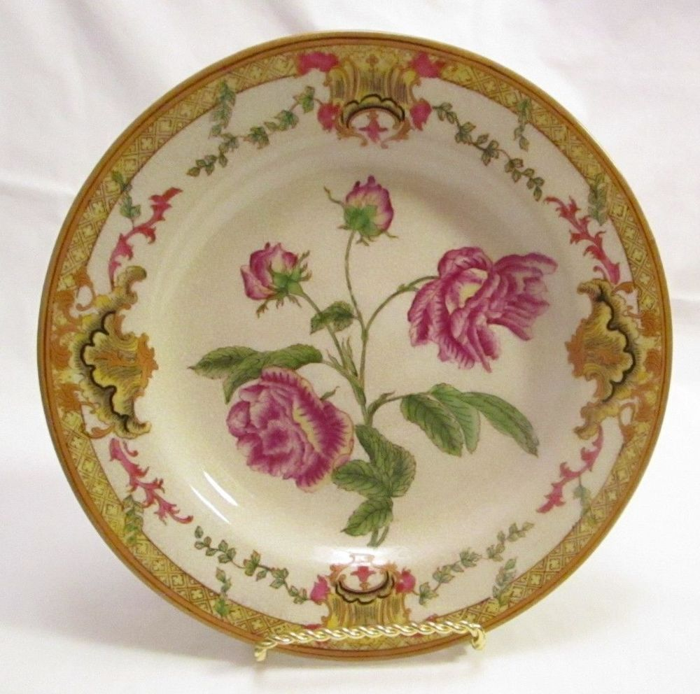 Wl 1895 Wong Lee Crackled Porcelain Floral Pattern Display Wall Dish