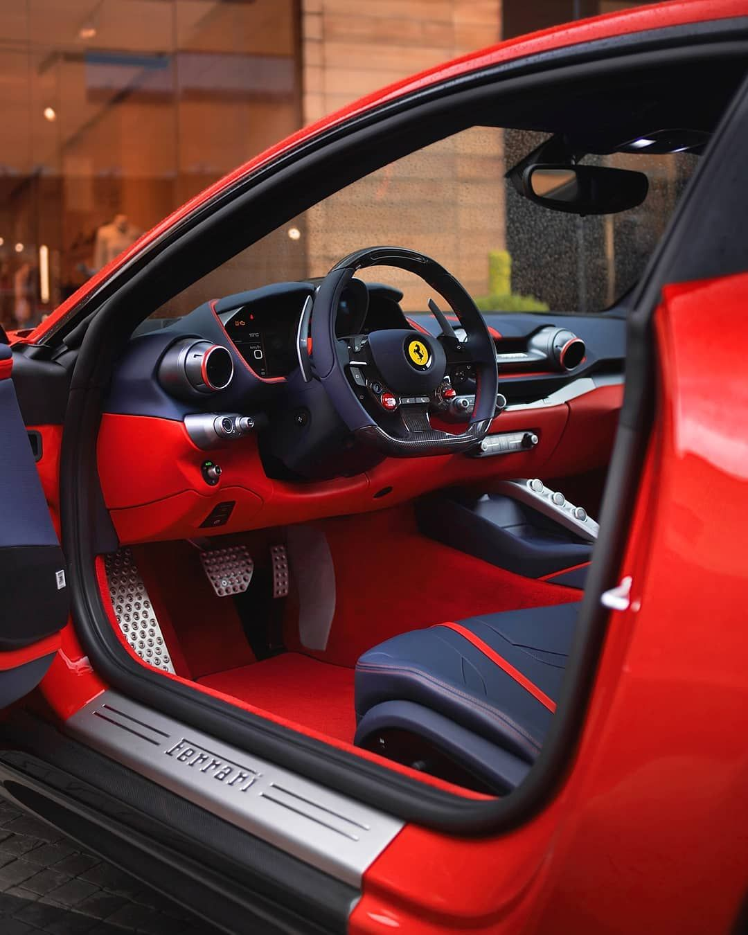 Red Ferrari Interior Clean Luxury Car Interior Fast Sports Cars Ferrari