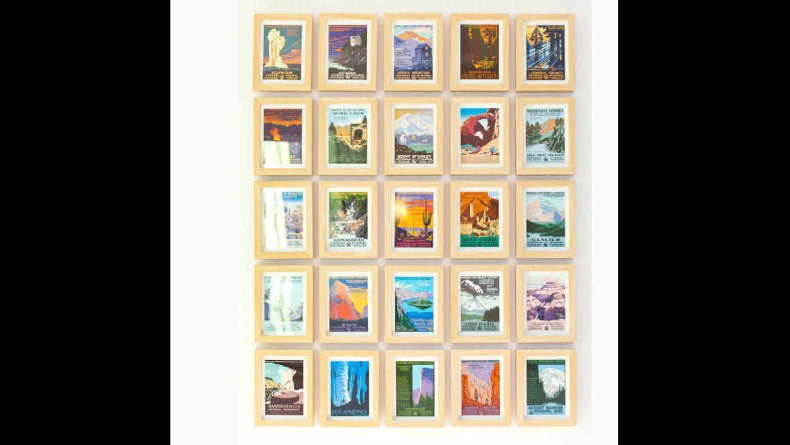 Vintage Postcard Frame Postcard Display Postcard Wall Framed Postcards