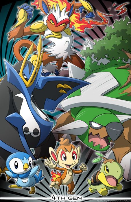 cuarta generacion | ederth | Pinterest | Pokémon, Video games and Gaming