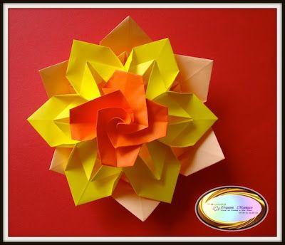 Origami modular flower free video tutorial origami pinterest origami modular flower free video tutorial mightylinksfo