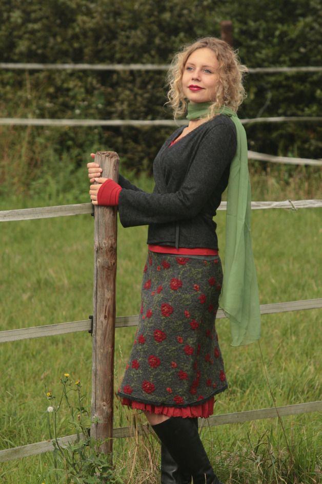 Wickeljacken - Wickeljacke Wickelpulli anthrazit Wolle S M - ein Designerstück von basia-kollek bei DaWanda