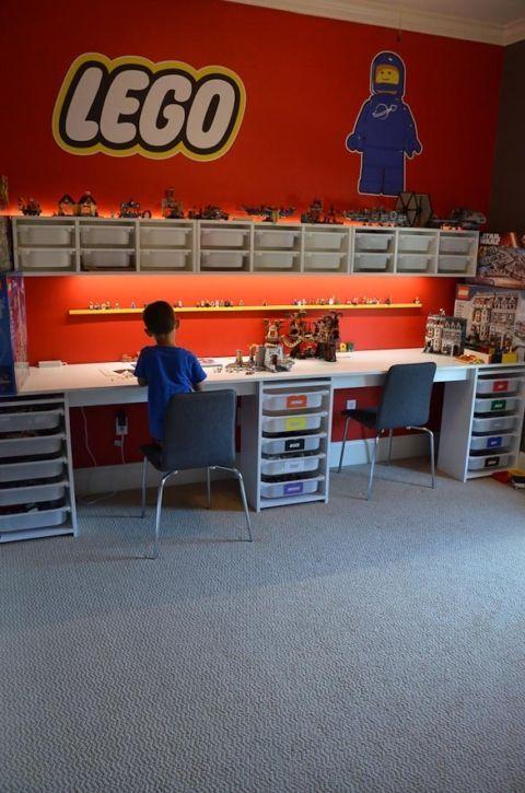 LEGO-Raum und LEGO-Schreibtisch - Schritt für Schritt, wie Sie einen LEGO-Raum in Ihrem Haus mit einem LEGO-Schreibtisch gestalten #hausdekodekoration