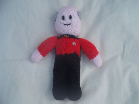 PDF Pattern Knitted Star Trek Doll TNG by TeenyDudes on Etsy   Star ...