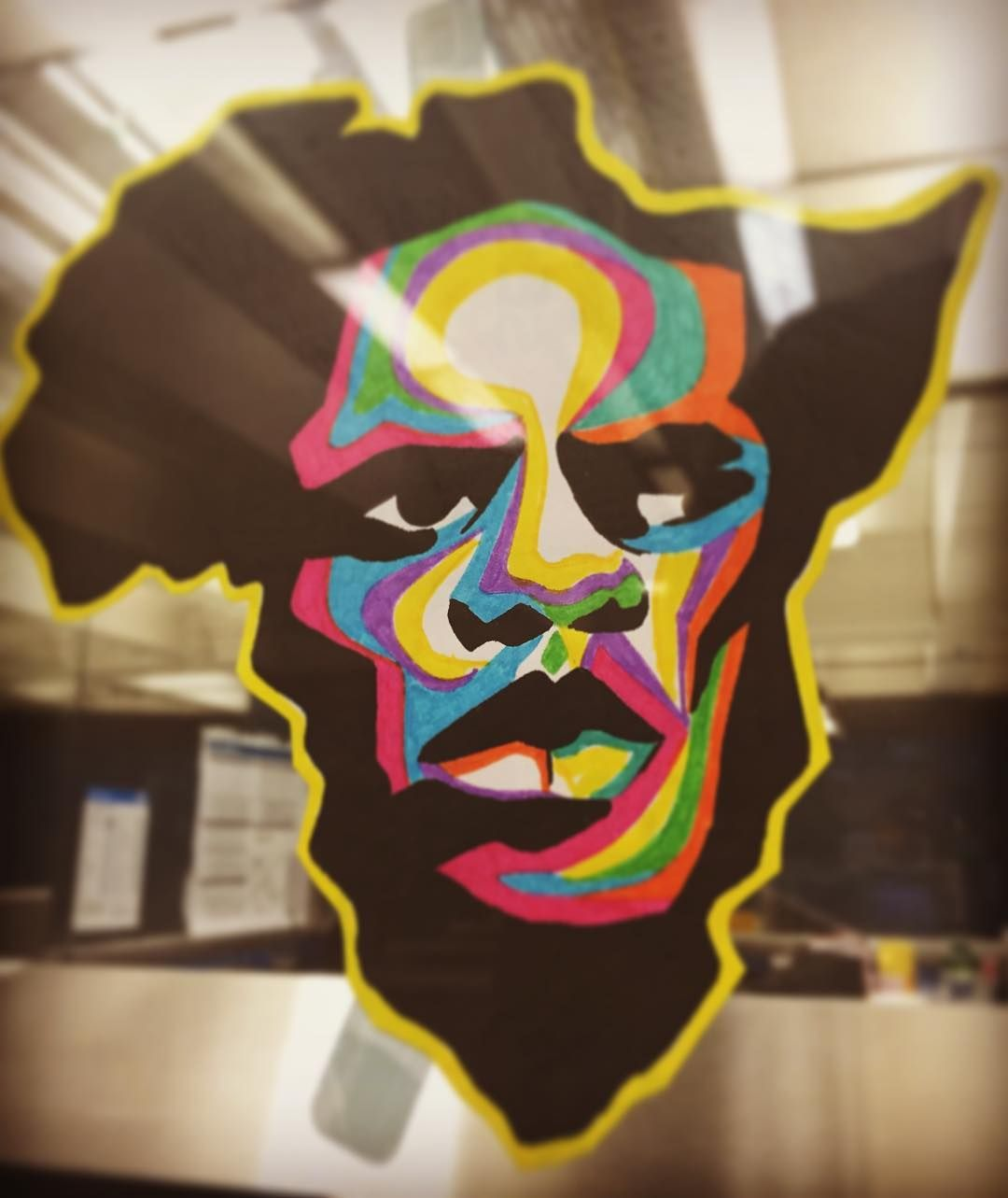 While out and about #bart #africa #streetart #oakland by dodatamen